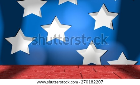 background from elements of united states national flag - stock photo