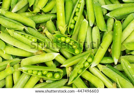Background from green peas - stock photo