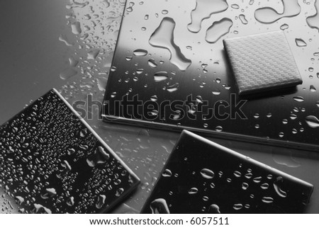 background from metal close - stock photo