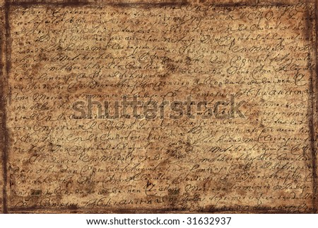 background from old letter - stock photo