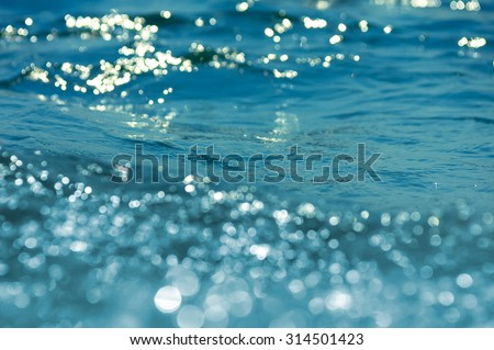 Background from sea waves. Small depth of sharpness. - stock photo