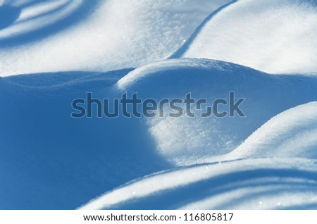 Background from snow drifts - stock photo