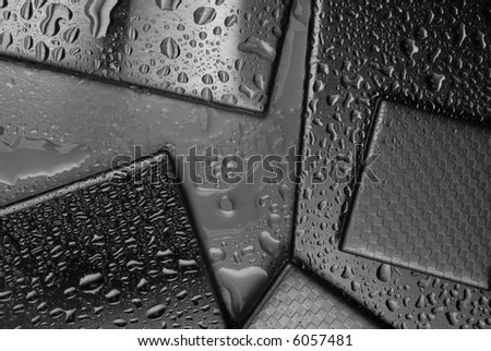 background from steel - stock photo
