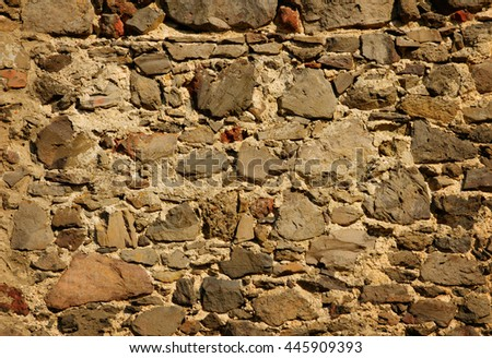 background from stone wall - stock photo