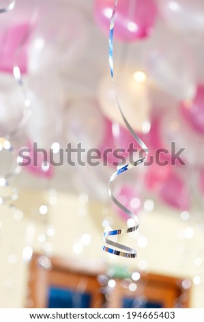 Background funny balloons - stock photo