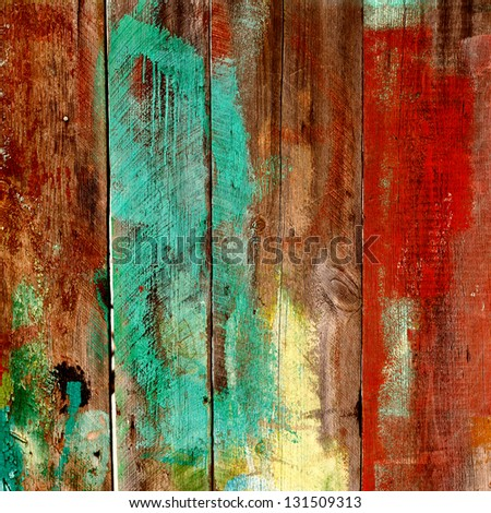 Background gloomy charred wooden fence in dark colors - stock photo