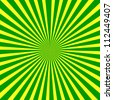 Background. green and yellow radial rays - stock photo