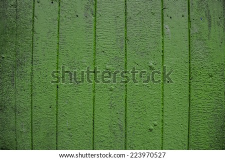 Background. Green vintage, old boards. - stock photo