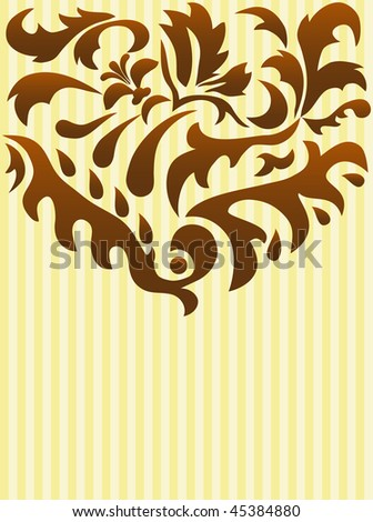Background greeting card with decoration - stock photo