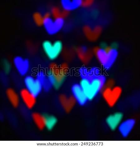 Background hearts Valentine's Day - stock photo