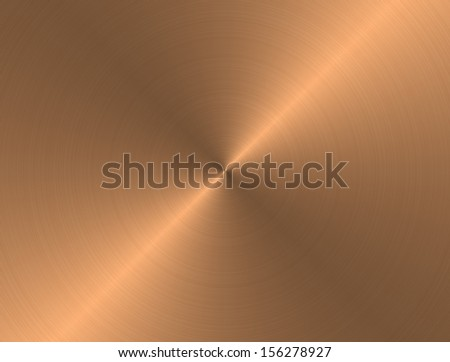 Background image of a hand brushed large bronze plaque - stock photo