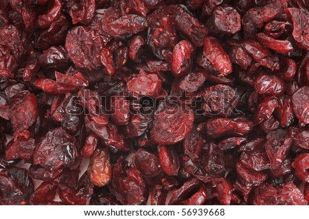 Background image of dry cranberries - stock photo
