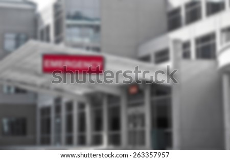 Background Image of New Modern Hospital Emergency Room Entrance  - stock photo
