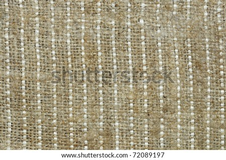 Background image with coarse canvas fabric - stock photo