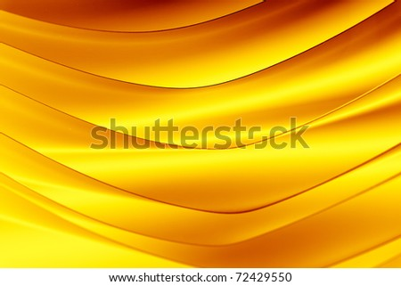 background macro image of a pattern made of curved sheets of paper in yellow and orange color tones. - stock photo
