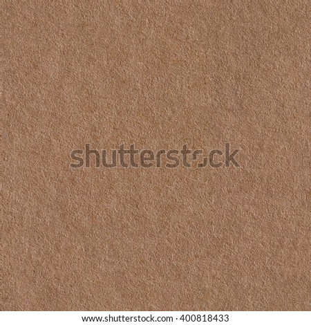 Background made of a closeup of brown paper. Seamless square texture. - stock photo