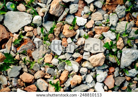 background made of a lot of stones - stock photo