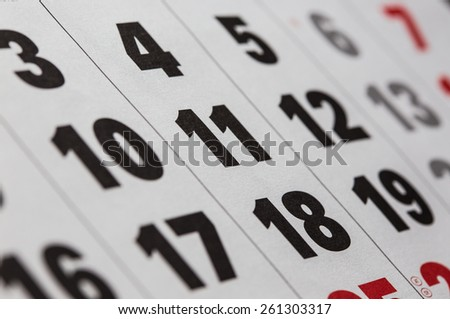 background made of calendar dates close up  - stock photo