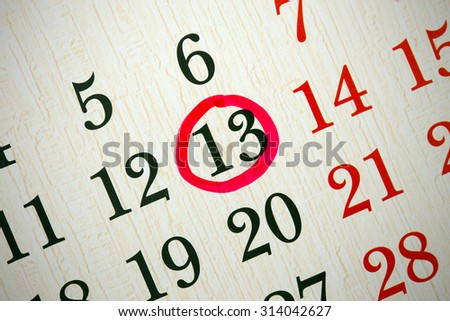 background made of calendar dates close up