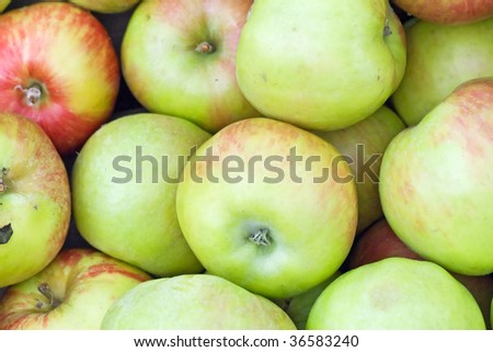 Background made of fresh apples - stock photo