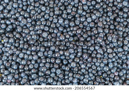 Background made of fresh, ripe, sweet blueberries - stock photo