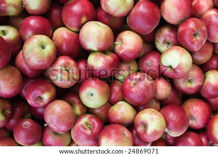 Background made of red apple s - stock photo