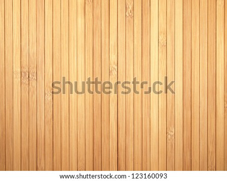 Background made of vertical yellow bamboo laths. - stock photo