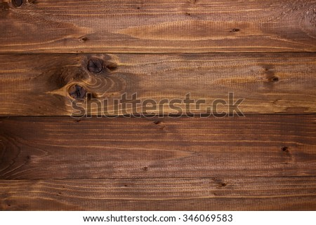 Background made of wooden slats that have been treated with a dye preservation of the tree structure. - stock photo