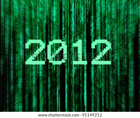 background map of  2012  of digital character code. - stock photo
