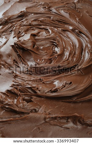 Background of a dark melted chocolate - stock photo