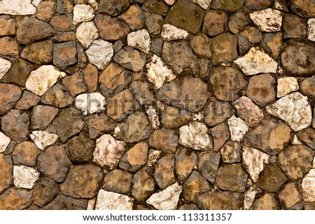 Background of a stone wall - stock photo