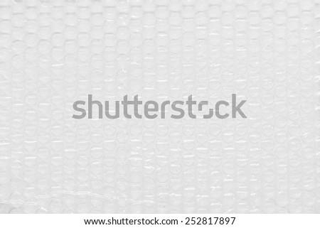 Background of Air bubble wrap foil  - stock photo