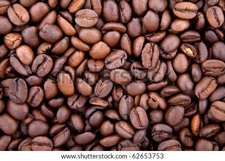 Background of aromatic roasted brown coffee bean - stock photo