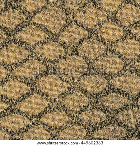 background of beige artificial snake skin - stock photo