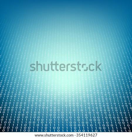 Background of binary code. Technology background. Storage of information. Stock illustration - stock photo