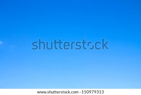 background of blue sky without clouds - stock photo