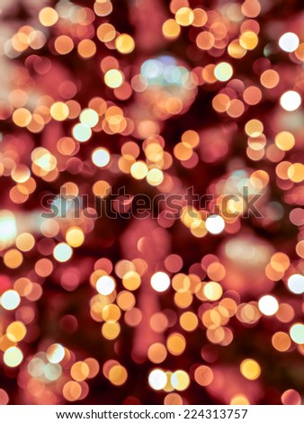Background of blurred christmas tree lights - stock photo