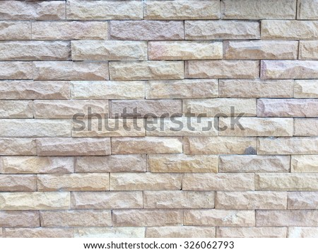 Background of brick brown wall texture - stock photo