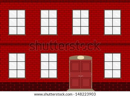 Background of brick wall of an old factory or home. - stock photo