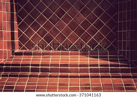 Background of brick wall texture, Vintage Style - stock photo