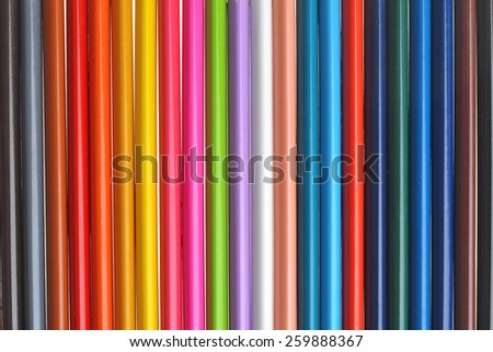 background of bright colored pencils for children - stock photo