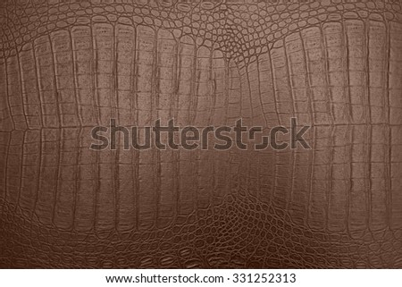 background of brown crocodile skin texture - stock photo