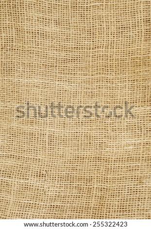 Background of burlap hessian sacking - stock photo
