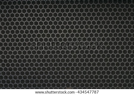 Background of carbon filter for air ventilation system. - stock photo