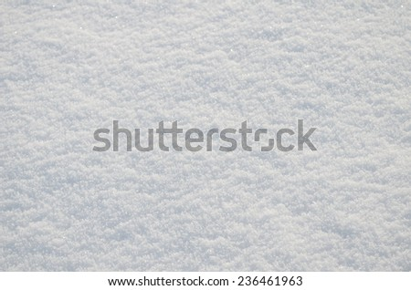 background of clear white snow - stock photo