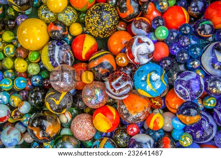 Background of colorful glass marbles as a concept for diversity - stock photo