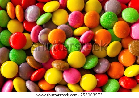 Background of colorful sprinkles,  for cake decoration or ice cream topping - stock photo