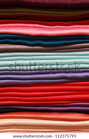 background of colorful thai silks - stock photo