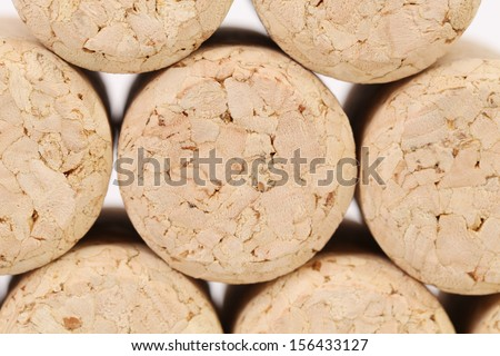 Background of corks. Close up. Whole background - stock photo