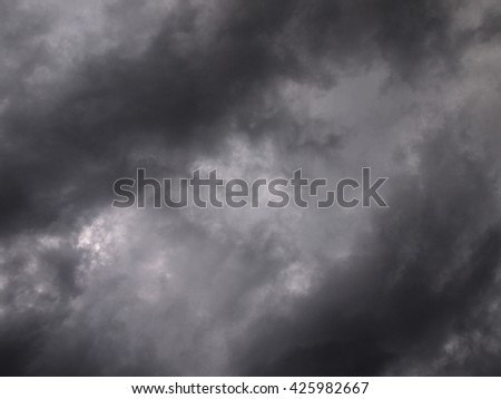 Background of dark clouds and sky - stock photo
